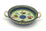 Ceramika Artystyczna Polish Pottery Baker - Round with Handles - Medium - Unikat Signature - U2663 419-U2663 (Ceramika Artystyczna)