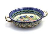 Ceramika Artystyczna Polish Pottery Baker - Round with Handles - Medium - Unikat Signature - U4400 419-U4400 (Ceramika Artystyczna)