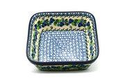 Ceramika Artystyczna Polish Pottery Baker - Square - Blue Berries 430-1416a (Ceramika Artystyczna)