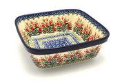 Ceramika Artystyczna Polish Pottery Baker - Square - Crimson Bells 430-1437a (Ceramika Artystyczna)