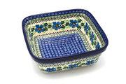Ceramika Artystyczna Polish Pottery Baker - Square - Morning Glory 430-1915a (Ceramika Artystyczna)