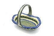 Ceramika Artystyczna Polish Pottery Basket - Large Oval - Ivy Trail 876-1898a (Ceramika Artystyczna)