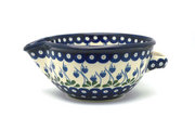 Ceramika Artystyczna Polish Pottery Batter Bowl - 1 quart - Bleeding Heart 240-377o (Ceramika Artystyczna)