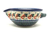 Ceramika Artystyczna Polish Pottery Batter Bowl - 1 quart - Cherry Blossom 240-2103a (Ceramika Artystyczna)