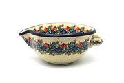Ceramika Artystyczna Polish Pottery Batter Bowl - 1 quart - Garden Party 240-1535a (Ceramika Artystyczna)