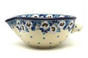 Ceramika Artystyczna Polish Pottery Batter Bowl - 1 quart - White Poppy 240-2222a (Ceramika Artystyczna)