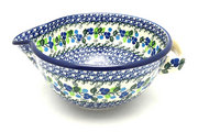 Ceramika Artystyczna Polish Pottery Batter Bowl - 2 quart - Blue Berries 714-1416a (Ceramika Artystyczna)