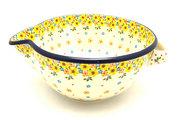 Ceramika Artystyczna Polish Pottery Batter Bowl - 2 quart - Buttercup 714-2225a (Ceramika Artystyczna)