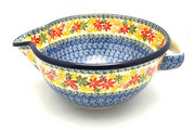 Ceramika Artystyczna Polish Pottery Batter Bowl - 2 quart - Maple Harvest 714-2533a (Ceramika Artystyczna)