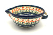 Ceramika Artystyczna Polish Pottery Batter Bowl - 2 quart - Peach Spring Daisy 714-560a (Ceramika Artystyczna)