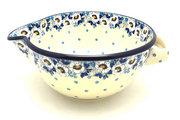 Ceramika Artystyczna Polish Pottery Batter Bowl - 2 quart - White Poppy 714-2222a (Ceramika Artystyczna)
