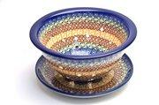 Ceramika Artystyczna Polish Pottery Berry Bowl with Saucer - Autumn 470-050a (Ceramika Artystyczna)