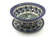 Ceramika Artystyczna Polish Pottery Berry Bowl with Saucer - Blue Chicory 470-976a (Ceramika Artystyczna)