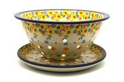 Ceramika Artystyczna Polish Pottery Berry Bowl with Saucer - Buttercup 470-2225a (Ceramika Artystyczna)