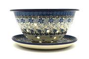 Ceramika Artystyczna Polish Pottery Berry Bowl with Saucer - Silver Lace 470-2158a (Ceramika Artystyczna)