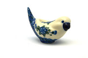 Ceramika Artystyczna Polish Pottery Bird Figurine - A - Blue Poppy 715-163a (Ceramika Artystyczna)