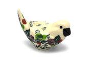 Ceramika Artystyczna Polish Pottery Bird Figurine - A - Burgundy Berry Green 715-1415a (Ceramika Artystyczna)
