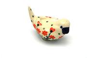 Ceramika Artystyczna Polish Pottery Bird Figurine - A - Peach Spring Daisy 715-560a (Ceramika Artystyczna)