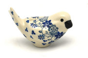 Ceramika Artystyczna Polish Pottery Bird Figurine - A - Silver Lace 715-2158a (Ceramika Artystyczna)