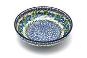 """Ceramika Artystyczna Polish Pottery Bowl - Contemporary - Medium (9"""") - Blue Berries B91-1416a (Ceramika Artystyczna)"""