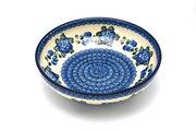 "Ceramika Artystyczna Polish Pottery Bowl - Contemporary - Medium (9"") - Blue Poppy B91-163a (Ceramika Artystyczna)"