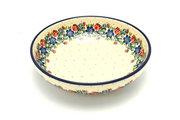 """Ceramika Artystyczna Polish Pottery Bowl - Contemporary - Medium (9"""") - Garden Party B91-1535a (Ceramika Artystyczna)"""