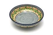 """Ceramika Artystyczna Polish Pottery Bowl - Contemporary - Medium (9"""") - Holly Berry B91-1734a (Ceramika Artystyczna)"""