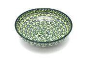 "Ceramika Artystyczna Polish Pottery Bowl - Contemporary - Medium (9"") - Irish Meadow B91-1888q (Ceramika Artystyczna)"