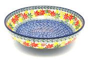 """Ceramika Artystyczna Polish Pottery Bowl - Contemporary - Medium (9"""") - Maple Harvest B91-2533a (Ceramika Artystyczna)"""