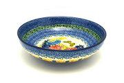 "Ceramika Artystyczna Polish Pottery Bowl - Contemporary - Medium (9"") - Unikat Signature U4592 B91-U4592 (Ceramika Artystyczna)"