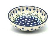 Ceramika Artystyczna Polish Pottery Bowl - Contemporary Salad - Bleeding Heart B90-377o (Ceramika Artystyczna)