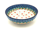 Ceramika Artystyczna Polish Pottery Bowl - Contemporary Salad - Cherry Jubilee B90-2284a (Ceramika Artystyczna)
