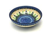 Ceramika Artystyczna Polish Pottery Bowl - Contemporary Salad - Christmas Trees B90-1284a (Ceramika Artystyczna)