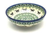 Ceramika Artystyczna Polish Pottery Bowl - Contemporary Salad - Dark Horse B90-2241a (Ceramika Artystyczna)