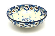 Ceramika Artystyczna Polish Pottery Bowl - Contemporary Salad - White Poppy B90-2222a (Ceramika Artystyczna)