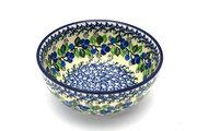 Ceramika Artystyczna Polish Pottery Bowl - Coupe Cereal - Blue Berries C38-1416a (Ceramika Artystyczna)