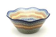"Ceramika Artystyczna Polish Pottery Bowl - Curvy Edge - 10"" - Autumn 692-050a (Ceramika Artystyczna)"