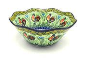 "Ceramika Artystyczna Polish Pottery Bowl - Curvy Edge - 10"" - Unikat Signature U2663 692-U2663 (Ceramika Artystyczna)"