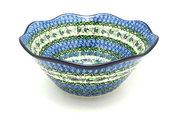 "Ceramika Artystyczna Polish Pottery Bowl - Curvy Edge - 10"" - Unikat Signature U4520 692-U4520 (Ceramika Artystyczna)"