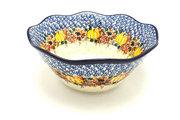 "Ceramika Artystyczna Polish Pottery Bowl - Curvy Edge - 10"" - Unikat Signature U4741 692-U4741 (Ceramika Artystyczna)"