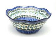 """Ceramika Artystyczna Polish Pottery Bowl - Curvy Edge - 10"""" - Wisteria 692-1473a (Ceramika Artystyczna)"""