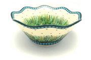 "Ceramika Artystyczna Polish Pottery Bowl - Curvy Edge - 12"" - Unikat Signature - U803 693-U0803 (Ceramika Artystyczna)"