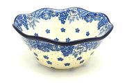 "Ceramika Artystyczna Polish Pottery Bowl - Curvy Edge - 8"" - Blue Bayou 691-1975a (Ceramika Artystyczna)"