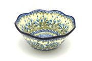 "Ceramika Artystyczna Polish Pottery Bowl - Curvy Edge - 8"" - Blue Bells 691-1432a (Ceramika Artystyczna)"