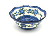 "Ceramika Artystyczna Polish Pottery Bowl - Curvy Edge - 8"" - Blue Poppy 691-163a (Ceramika Artystyczna)"