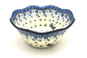 "Ceramika Artystyczna Polish Pottery Bowl - Curvy Edge - 8"" - Dragonfly 691-2009a (Ceramika Artystyczna)"