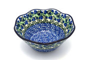 "Ceramika Artystyczna Polish Pottery Bowl - Curvy Edge - 8"" - Huckleberry 691-1413a (Ceramika Artystyczna)"