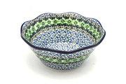 "Ceramika Artystyczna Polish Pottery Bowl - Curvy Edge - 8"" - Kiwi 691-1479a (Ceramika Artystyczna)"