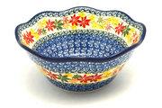 "Ceramika Artystyczna Polish Pottery Bowl - Curvy Edge - 8"" - Maple Harvest 691-2533a (Ceramika Artystyczna)"