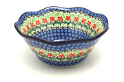 "Ceramika Artystyczna Polish Pottery Bowl - Curvy Edge - 8"" - Maraschino 691-1916a (Ceramika Artystyczna)"